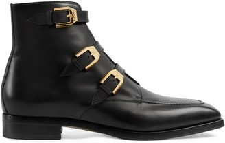 Gucci Men's ankle boot with buckles
