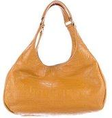 Tory Burch Embossed Leather Shoulder Bag