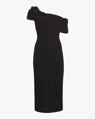 Badgley Mischka Off Shoulder Sheath Gown