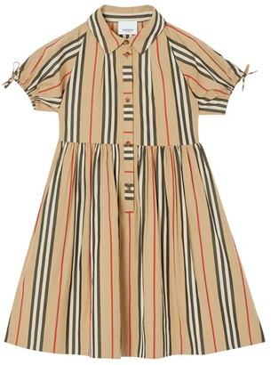 Burberry Kids Icon Stripe Dress (3-12 Years)