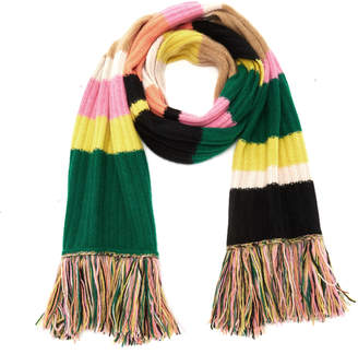 The Elder Statesman Longstocking Striped Cashmere Scarf