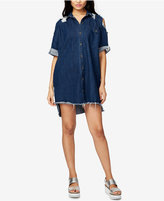 Rachel Roy Ripped Denim Shirtdress, Created for Macy's