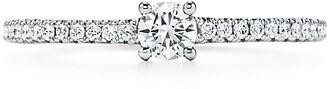 Tiffany & Co. Novo round ring in platinum with a round brilliant diamond