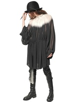 Ann Demeulemeester Gradient Silk Georgette Dress