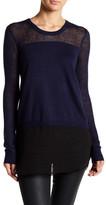 BCBGeneration Knit & Woven Shirttail Sweater
