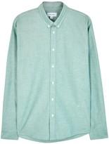 Soulland Goldsmith Green Cotton Shirt
