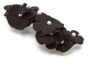 Benoit Missolin Gabriella Floral-applique Hair Clip - Womens - Black
