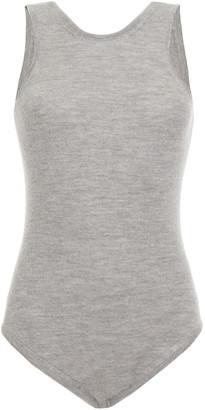 Magda Butrym Rockland Open-back Wool, Silk And Cashmere-blend Bodysuit