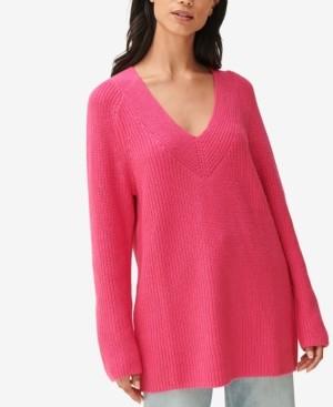 Lucky Brand Ribbed V-Neck Sweater