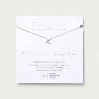 The White Company A Tiny Kiss Necklace, Silver, One Size
