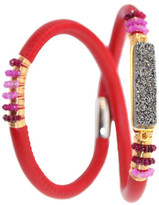 Mabel Chong - Radiant Red Double Leather Bracelet