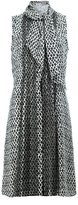 Oscar de la Renta tied neck flared dress - women - Silk - 6