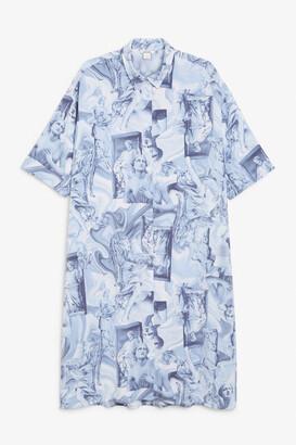 Monki Button-up shirt dress