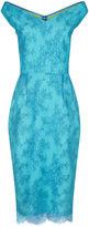 Emilio De La Morena Turquoise Eloise Lace Dress