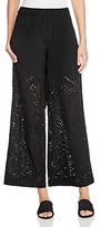 Theory Alkes Eyelet Wide-Leg Pants