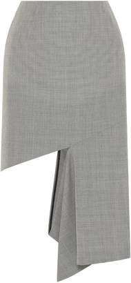 Maison Margiela Cutout Houndstooth Cotton Midi Skirt