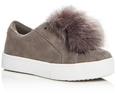 Sam Edelman Leya Faux Fur Pom-Pom Slip On Sneakers