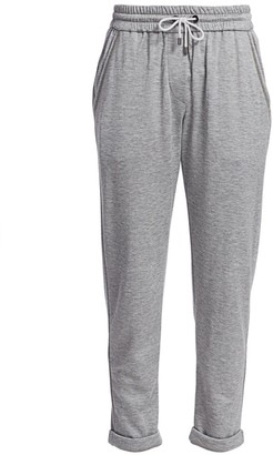 Brunello Cucinelli Silk-Blend Jersey Track Pants