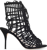 Sophia Webster Delphine caged suede booties
