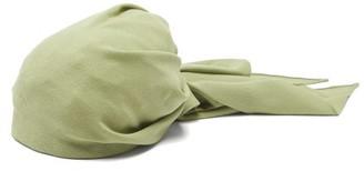 Marta Ferri - Gathered Wool-crepe Turban Headband - Womens - Green