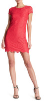 Laundry by Shelli Segal Short Sleeve Lace Shift Dress