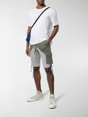 Greg Lauren Panelled Hybrid Shorts