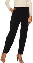 Susan Graver Regular Liquid Knit Jogger Pants w/ Zipper Detail