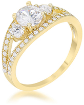 Kate Bissett Cubic Zirconia & Gold Genna Ring