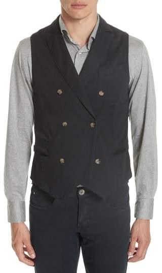Eleventy Slim Fit Stretch Cotton Twill Vest