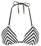 Vitamin A 'Natalie' stripe padded triangle bikini top