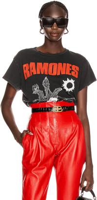 MadeWorn Ramones Loco Live Crew Tee in Coal   FWRD