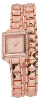 Geneva Platinum Women's Wristwatch Rose Gold