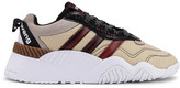 Alexander Wang Adidas By adidas by V Turnout Trainer Sneaker in Core Black, Light Brown & Bright Red | FWRD