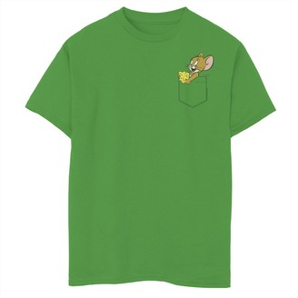 Licensed Character Boys 8-20 Tom & Jerry Faux Pocket Jerry Graphic Tee