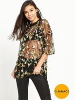 Glamorous Floral Net T-shirt
