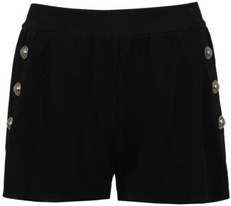 Balmain Black Knit Shorts