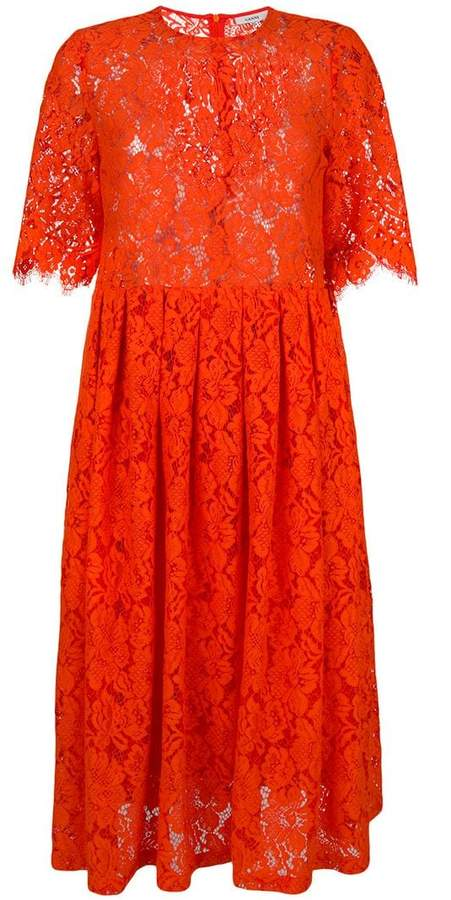 Ganni eyelash lace dress