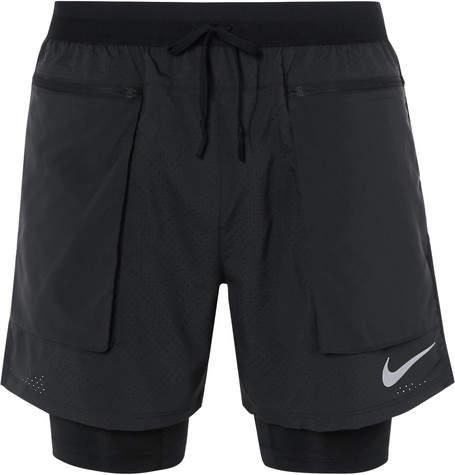 Running Stride 2 In 1 Flex Dri Fit Mesh Shorts