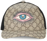 Gucci eye GG Supreme baseball cap - men - Cotton/Polyester/Polyurethane/Viscose - M