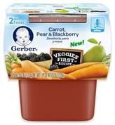 Gerber 2-Pack 2nd Foods® Carrot, Pear, and Blackberry Veggies FirstTM Recipe Baby Food