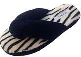 Ellen Tracy Black & Zebra Animal Thong Slipper