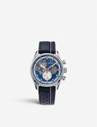 Zenith 03.2040.4061/52.C700 Chronomaster El Primero Open 1969 stainless steel and leather watch