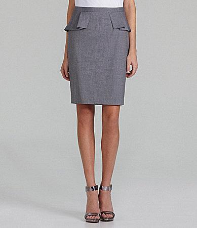 T Tahari Rayonda Peplum Pencil Skirt