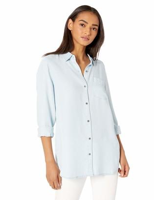 Daily Ritual Amazon Brand Women's Tencel Long-Sleeve Button-Up Tunic