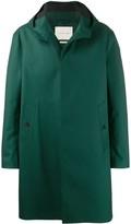 Mackintosh CLARKSTON Green Bonded Wool & Mohair Hooded Coat GR-1008
