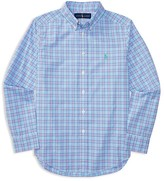 Ralph Lauren Boys' Checked Poplin Shirt - Big Kid
