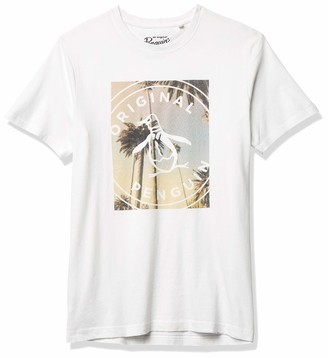 Original Penguin Men's Short Sleeve Fashion Circle Logo Tee