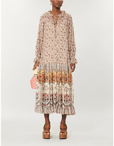 Free People Feeling Groovy floral-print woven maxi dress