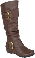 Journee Collection Brown Paris Wide-Calf Boot