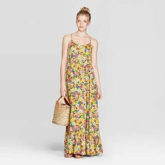 Women's Floral Print Strappy Scoop Neck Maxi Dress - XhilarationTM